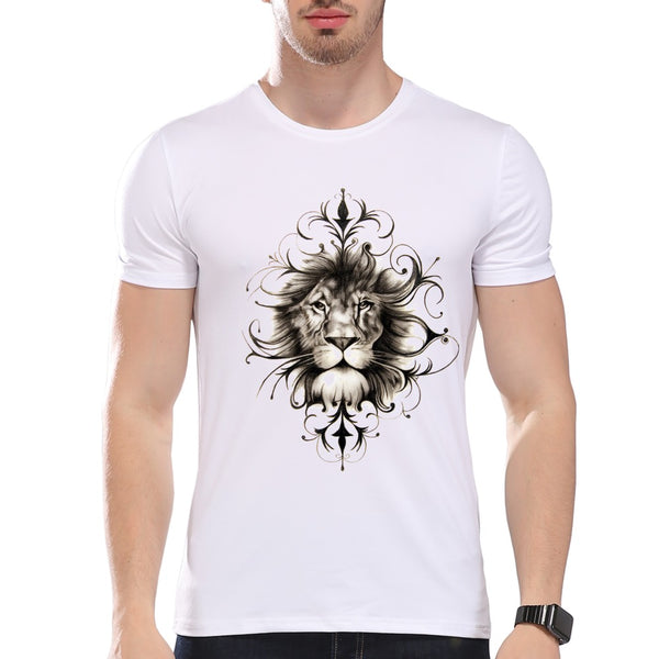Fashion Graphic Tee - Artsy Classic Lion