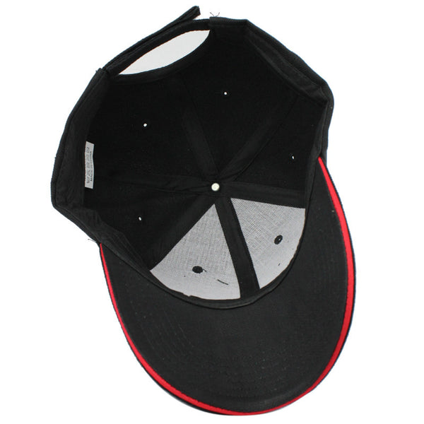 Classic Basic Men's Hat with Striking Line *14 Colors*
