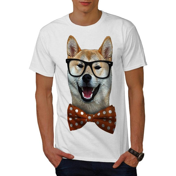 Graphic Tee for Dog Lovers - Shiba Inu with Bow Tie *8 Colors*