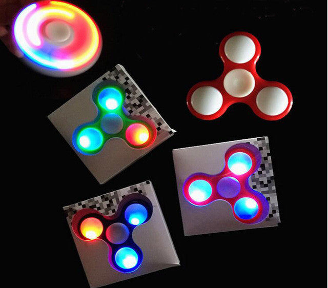 Beautiful LED Fidget Tri-spinner with *Random Colors*