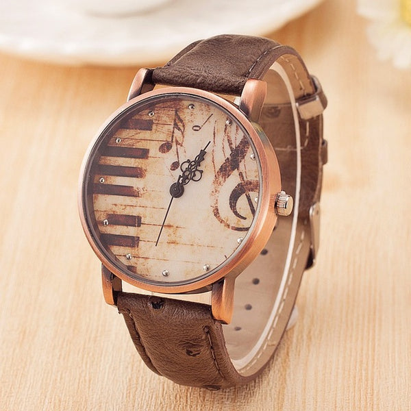 Vintage Music Watch for Music Lovers