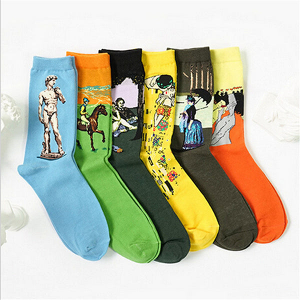 Artsy Racing Horse Fashion Socks for Stylish Icon - Socks for men #6
