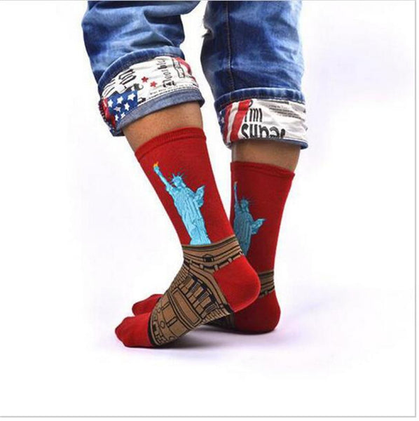 Artsy Statue of Liberty Fashion Socks for Stylish Icon - Socks for men #5