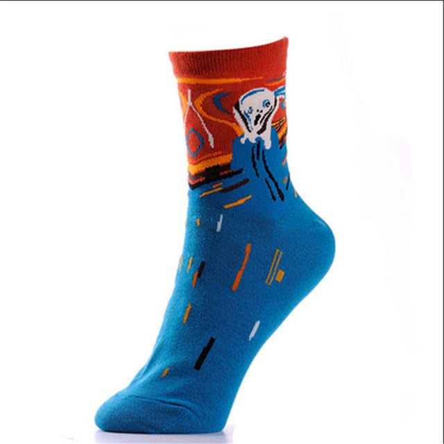 The Colourful Scream Fashion Socks for Stylish Icon - Socks for men #9 *2 Variants*