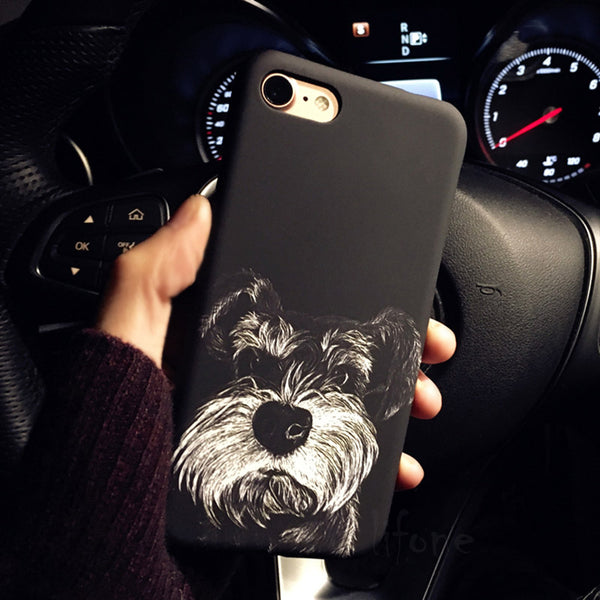 Black & White Phone Cover for Dog Lovers - Schnauzer