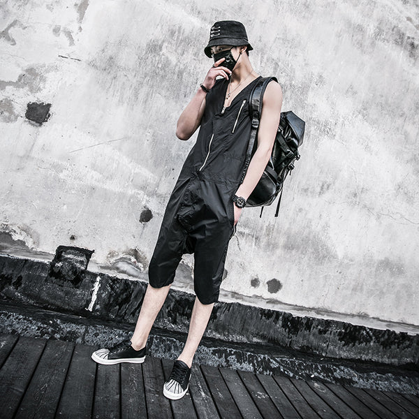 High Street Fashion Hip-Hop Jumpsuits for Men