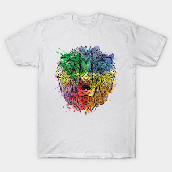 Fashion Graphic Tee - Watercolor Lion 2