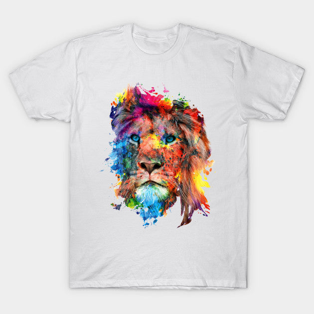 Fashion Graphic Tee - Watercolor Lion