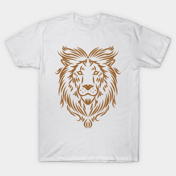 Fashion Graphic Tee - Minimalist Brown Lion