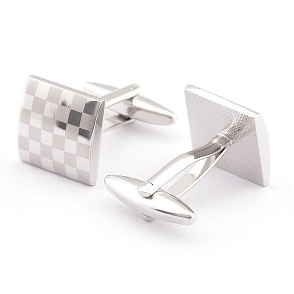 Formal Cufflinks for Men - Checked 3