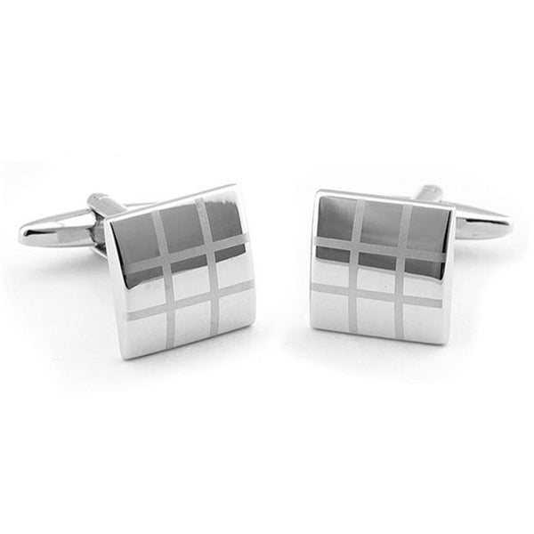Formal Cufflinks for Men - Checked 4