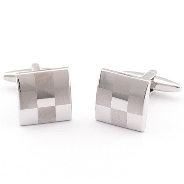 Formal Cufflinks for Men - Checked 2