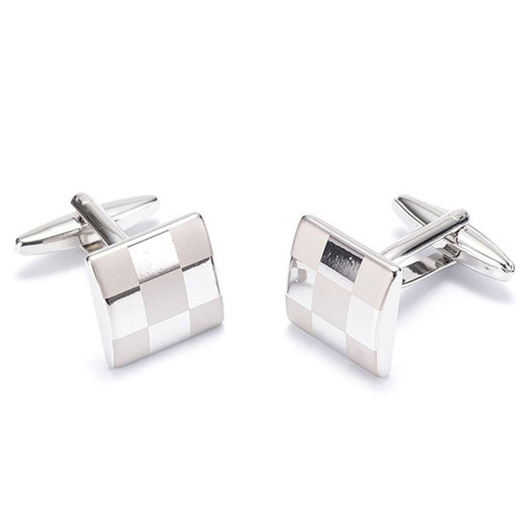 Formal Cufflinks for Men - Checked