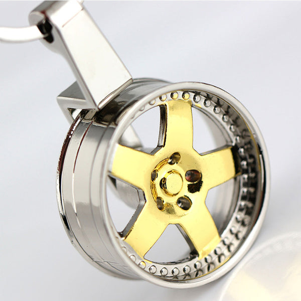 Cool Rotating Wheel Fidget Keyring *2 Colors*