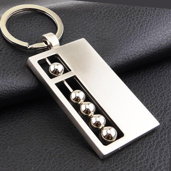 Slideable Metal Beads Abacus Fidget keychain