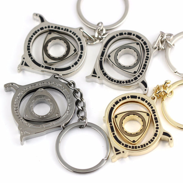Cool Rotating Engine Rotor Spinner keychain Fidget Toys *4 Colors*