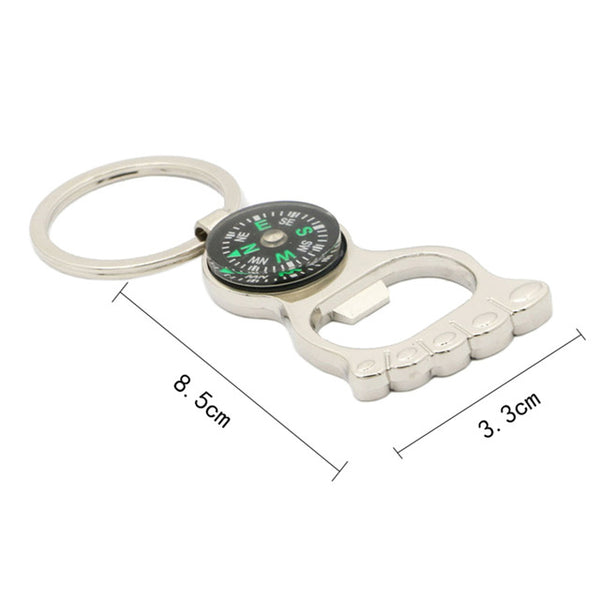 Creative Bottle Opener with Compass Cum Keychain *3 Variants*