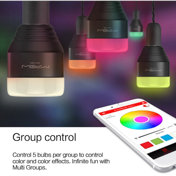 Bluetooth Smart LED Light Bulbs APP Smartphone Group Controlled Dimmable Changing