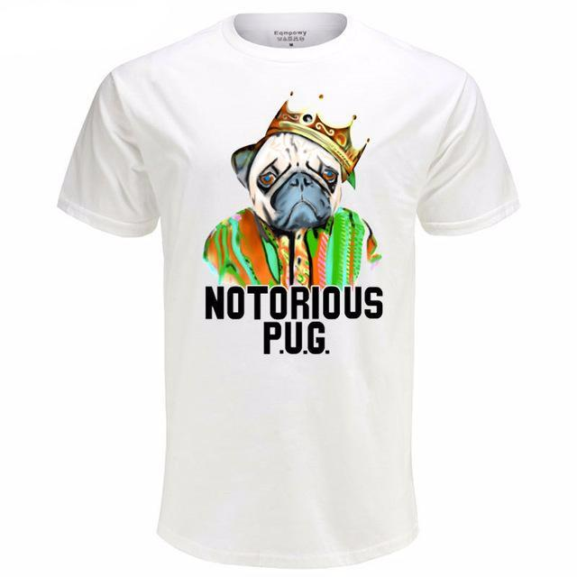 Graphic Tee for Dog Lovers - Notorious Pug