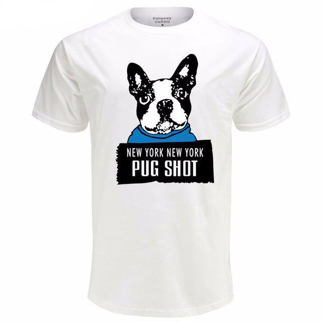 Graphic Tee for Dog Lovers - Pug Shot