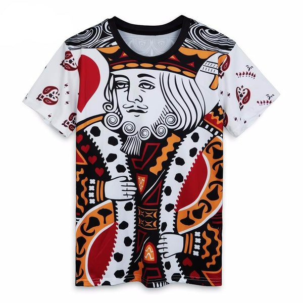 Fashion Graphic Tee - King of Hearts