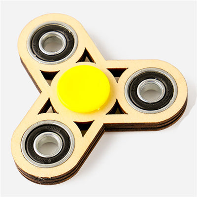 High Quality Wooden Black Star Fidget Spinner