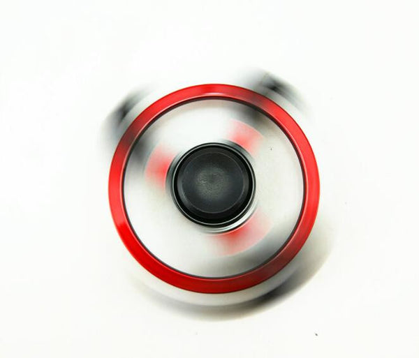 High Speed Red Wheel with Black Fire Fidget Spinner