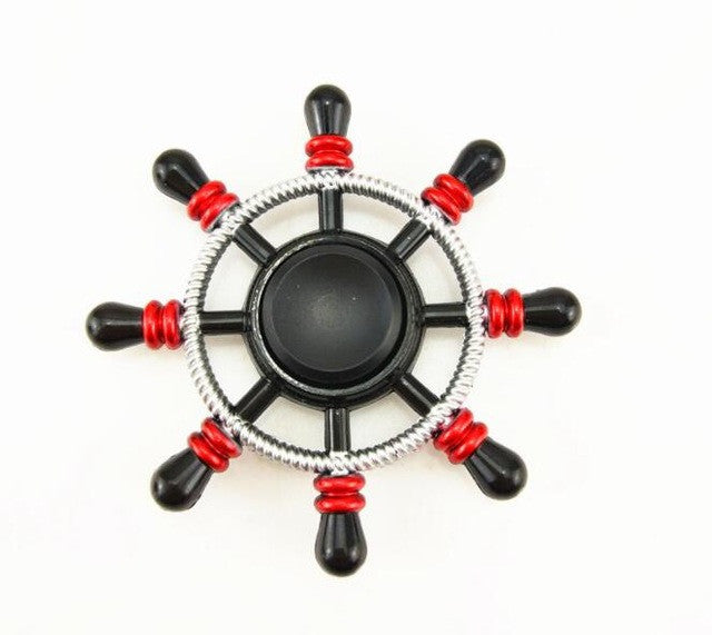 High Speed Black Red Rudder Fidget Spinner