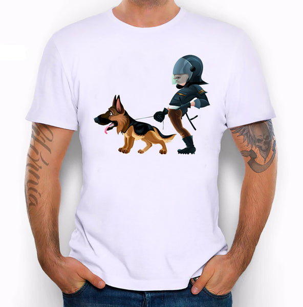 Graphic Tee for Dog Lovers - German Shepard Patrol Unit