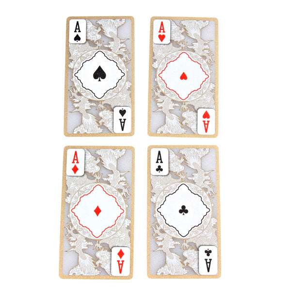 Playing Cards - Classic Clear Cards with Golden Edge