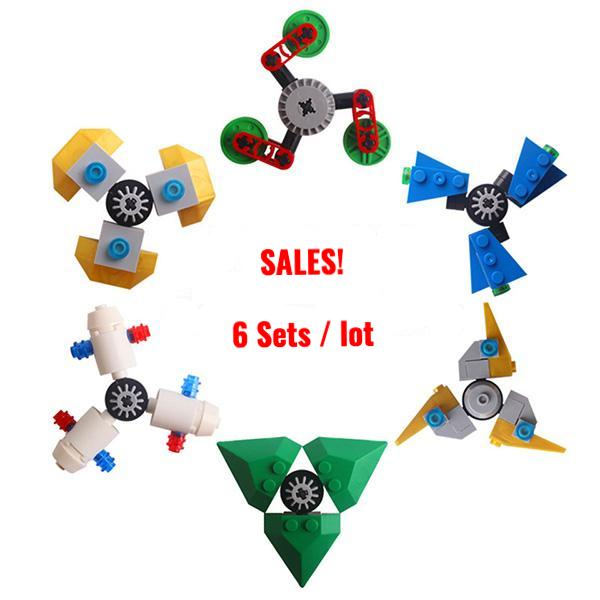 Creative Building Blocks Fusion Fidget Spinner *6 Variants* [6 sets/lot HOT PROMO NOW!]