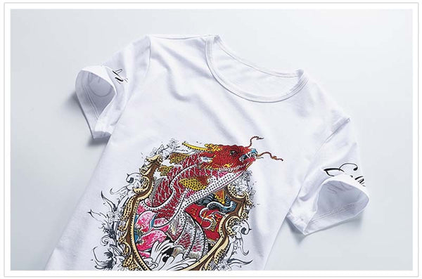 Fashion Graphic Tee - Flying Carp