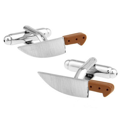Fun Cufflinks for Men - Kitchen Knife