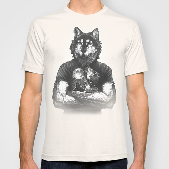 Fashion Graphic Tee - The Wolf Man