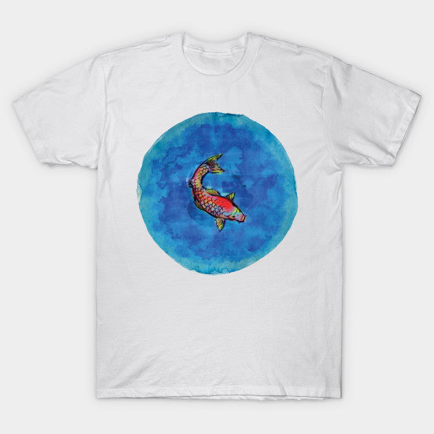 Fashion Graphic Tee - Swimming Carp