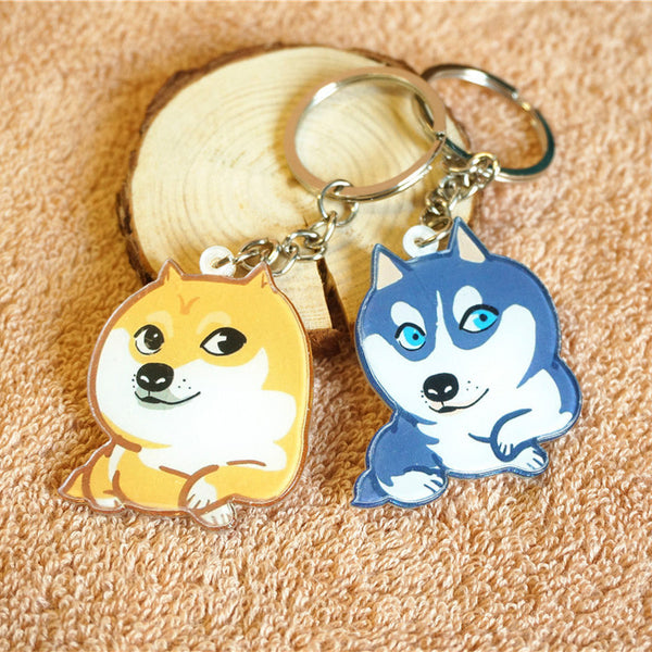 Key Chains for Dog Lovers - Akita & Husky