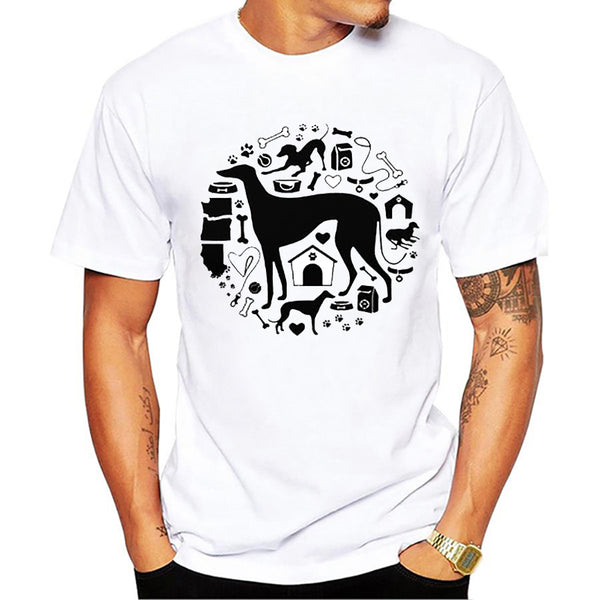 Graphic Tee for Dog Lovers - Greyhound