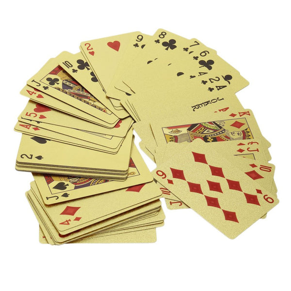 Playing Cards - Gold Foil Plated with Colors