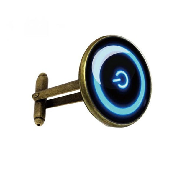 Fun Cufflinks for Men - Power Button *3 Colors*