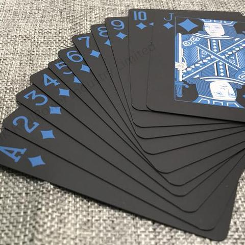Playing cards - Black & Luminous Blue
