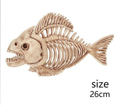 Realistic Fish Skeleton for Creepy Halloween Decoration