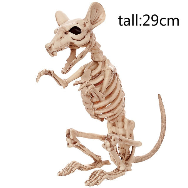 Realistic Plastic Mouse Skeleton Creepy Halloween Decoration