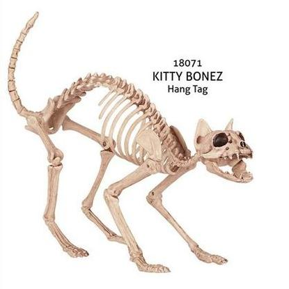 Creepy Cat Movable Skeleton for Creepy Halloween Decoration