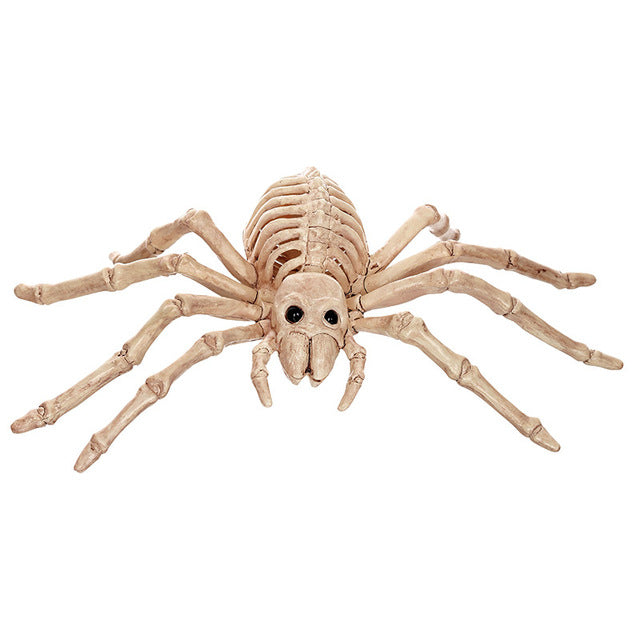 Black Widow Spider Realistic Skeleton for Horror Halloween Decoration