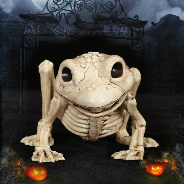 Magical Frog Realistic Plastic Skeleton for Creepy Halloween Decoration