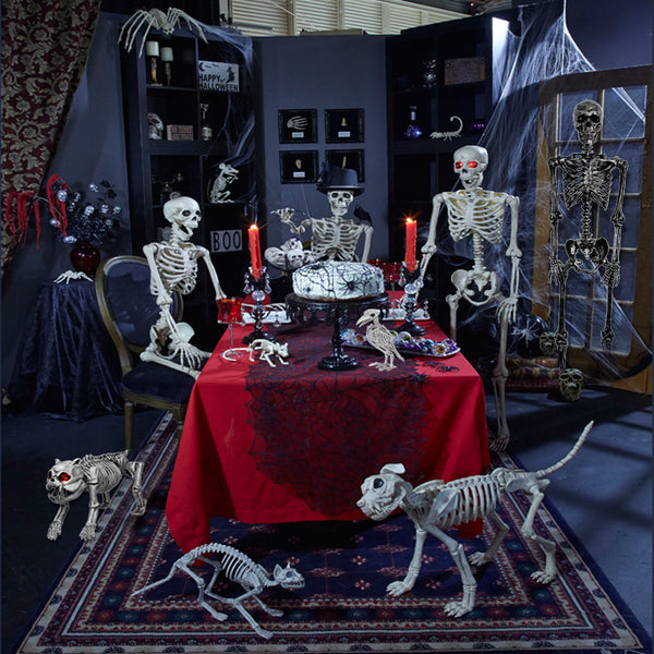 Giant Mouse Realistic Plastic Skeleton for Creepy Halloween Decoration