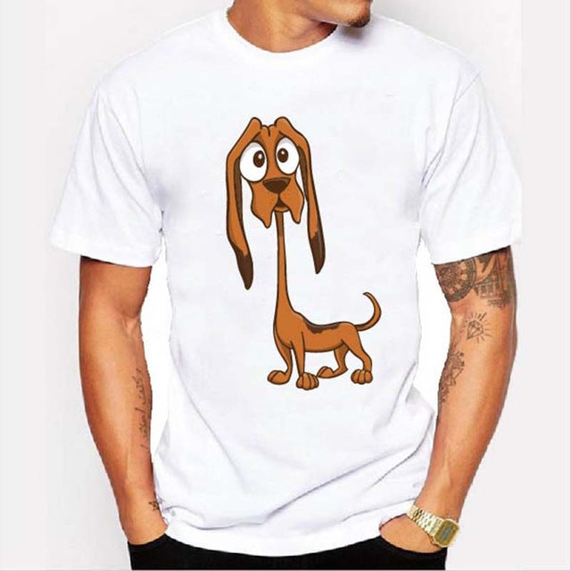 Graphic Tee for Dog Lovers - Skinny Dog