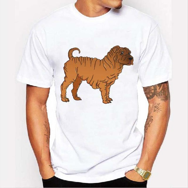 Graphic Tee for Dog Lovers - Shar Pei