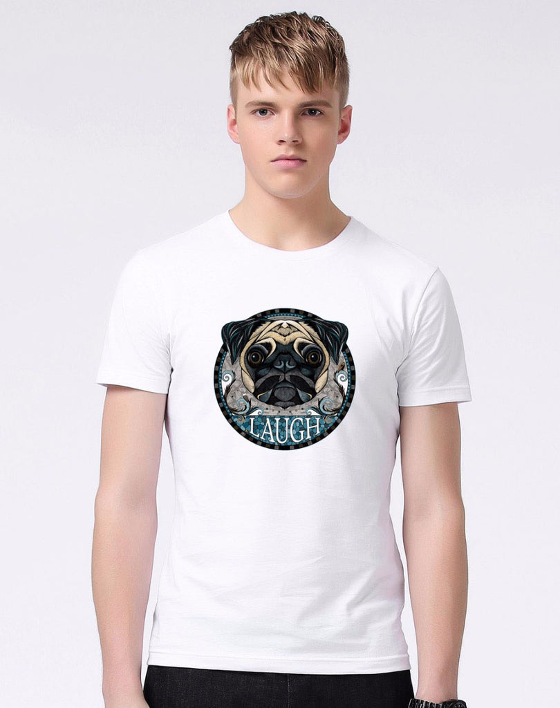 Graphic Tee for Dog Lovers - Pug Icon