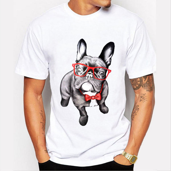 Graphic Tee for Dog Lovers - French Bulldog with Glasses